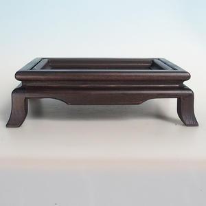 Dřevěný stolek pod bonsaje  hnědý 25 x 19 x 8 cm