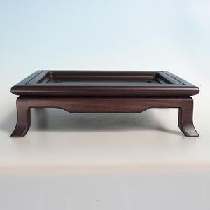 Dřevěný stolek pod bonsaje  hnědý 32 x 25 x 9cm