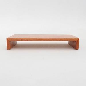 Dřevěný stolek pod bonsaje  hnědý 17 x 8 x 3 cm