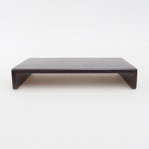 Dřevěný stolek pod bonsaje  hnědý 17 x 11 x 3 cm