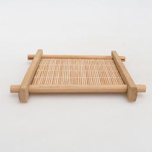 Dřevěný stolek pod bonsaje  hnědý 12,5 x 12,5 x 1,5 cm
