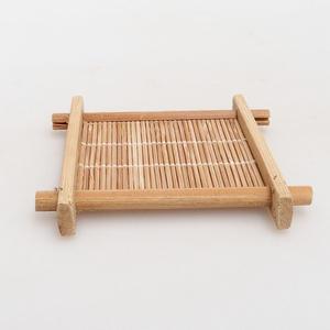 Dřevěný stolek pod bonsaje  hnědý 8,5 x 8,5 x 1,3 cm