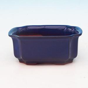 Keramická bonsai miska H 01, modrá