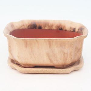 Bonsai miska + podmiska H01, béžová