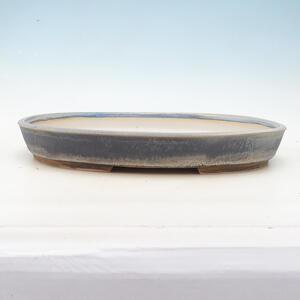 Bonsai miska 40 x 30 x 5,5 cm, barva šedomodrá