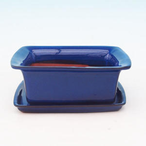 Bonsai miska + podmiska H11, modrá