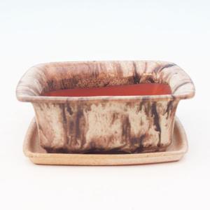 Bonsai miska + podmiska H11, hnedá