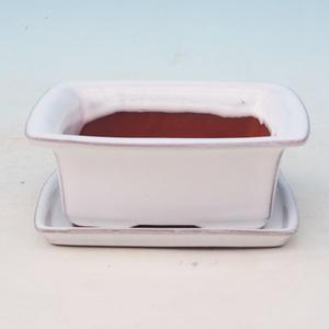 Bonsai miska + podmiska H11, bílá