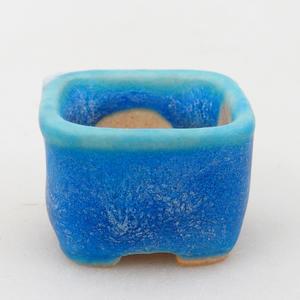 Mini bonsai miska 2,5 x 2,5 x 1,5 cm, farba modrá