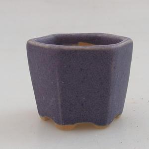Mini bonsai miska 4,5 x 4,5 x 3,5 cm, barva fialová