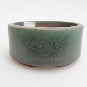 Keramická bonsai miska 8,5 x 8,5 x 4  cm, barva zelená