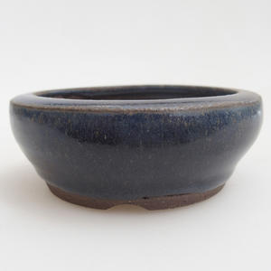 Keramická bonsai miska 8 x 8 x 3  cm, barva modrá