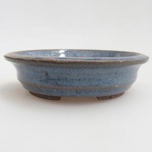 Keramická bonsai miska 11,5 x 11,5 x 3  cm, barva modrá