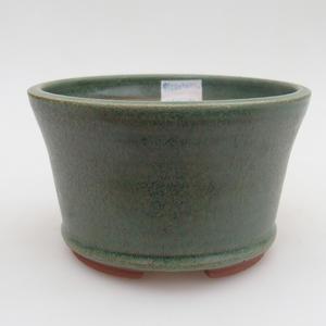 Keramická bonsai miska 12 x 12 x 7,5  cm, barva zelená