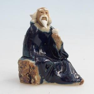 Keramická figurka - mudrc s čajem