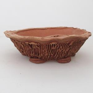 Keramická bonsai miska 15,5 x 15,5 x 5 cm, farba hnedá - 2.akosť