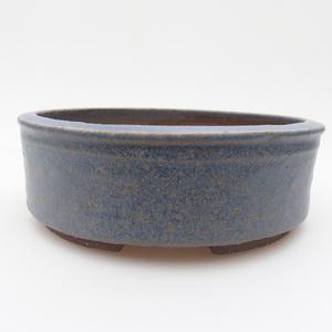 Keramická bonsai miska 16 x 16 x 5,5 cm, barva modrá