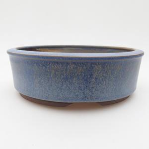 Keramická bonsai miska 16 x 16 x 5 cm, barva modrá