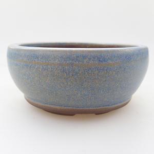 Keramická bonsai miska 10 x 10 x 4,5 cm, barva modrá