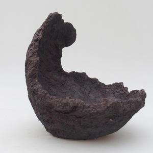 Keramická Škrupina 15,5 x 15 x 18 cm, farba režná