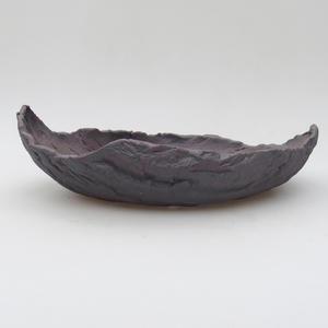 Keramická Škrupina 23 x 15 x 7 cm, farba kovová