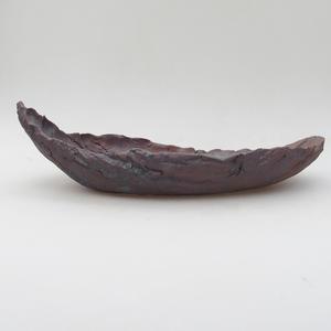 Keramická Škrupina 28 x 14 x 8,5 cm, farba kovová