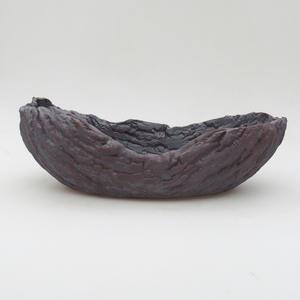 Keramická Škrupina 24 x 13 x 7 cm, farba kovová