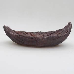 Keramická Škrupina 19 x 11,5 x 7 cm, farba kovová