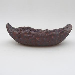 Keramická Škrupina 17 x 11,5 x 5,5 cm, farba kovová