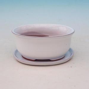 Bonsai miska + podmiska H 30, bílá