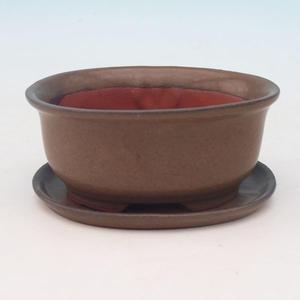 Bonsai miska + podmiska H 30, hnědá