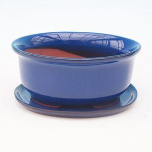 Bonsai miska + podmiska H 30, modrá