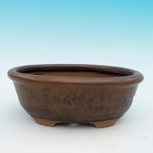 Keramická bonsai miska CEJ 30, tmavo hnedá