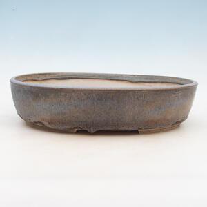 Bonsai miska 34 x 26 x 8 cm, barva šedomodrá