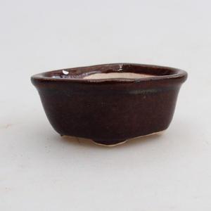 Mini bonsai miska 5 x 4 x 2 cm, farba hnedá