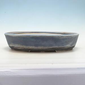 Bonsai miska 43 x 34 x 9 cm, barva šedomodrá