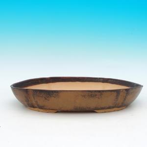 Keramická bonsai miska CEJ 3, tmavě hnědá