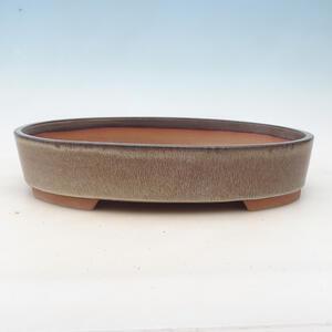 Bonsai miska 34,5 x 25,5 x 7 cm, barva hnědošedá
