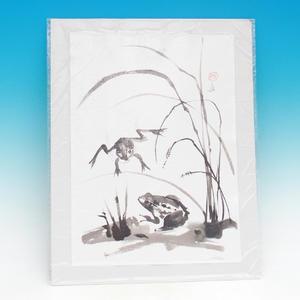 Kaligrafie - Žaby v tráve