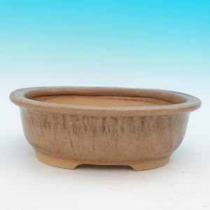 Keramická bonsai miska CEJ 48, tmavě hnědá