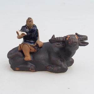 Keramická figurka - buvol
