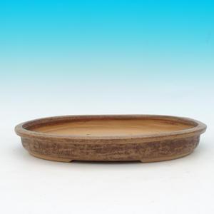 Keramická bonsai miska CEJ 4, světle hnědá