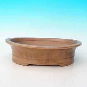 Keramická bonsai miska CEJ 55, Světle hnědá