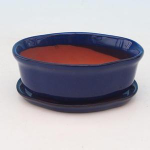 Bonsai miska + podmiska H05, modrá