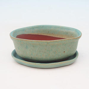 Bonsai miska + podmiska H05, zelená