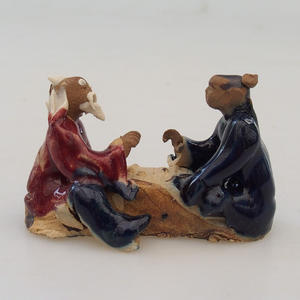 Keramická figurka - dvojice hráči