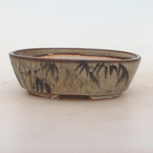 Bonsai miska 17 x 12 x 5 cm, barva hnědošedá
