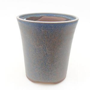 Keramická bonsai miska 11,5 x 11,5 x 12,5 cm, barva modrá