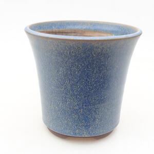 Keramická bonsai miska 13 x 13 x 12,5 cm, barva modrá
