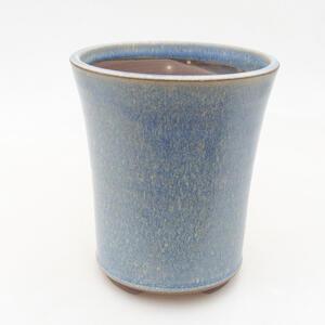 Keramická bonsai miska 11 x 11 x 13 cm, barva modrá